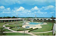 Imperial Motor Hotel-Swim Pool-New Braunfels-Texas-Vintage Advertising Postcard