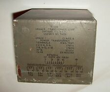 Recovered Gramar Transformer, 0-103.5-115-126.5V Pri., 5 x 0-6.3V, 0-1950V Sec.