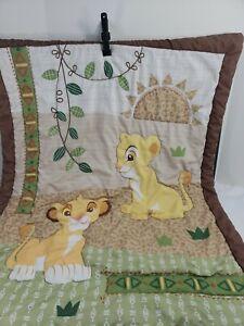 Disney Lion King Simbas Wild Adventure Quilted Crib Blanket Baby Comforter 33X41