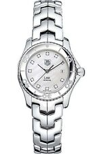 DIAMOND DIAL TAG HEUER LADIES LINK WJ1319.BA0572 MOTHER OF PEARL QUARTZ WATCH