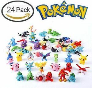 Pocket Monster 24 Mini Figures Cake Topper Free Postage UK Seller