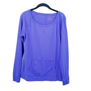tek gear small Purple pullover long sleeve top Womens pocket Activewear gym