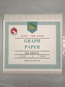 """Graph Paper Two-sided School 100 sheets 1"""" ruled 10 x 10 Math and Science"""