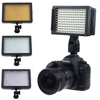 160 LED Video Light Lamp Lighting Hot Shoe for Canon Nikon DSLR Camera Camcorder