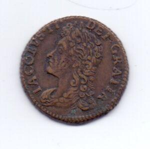 1689 Ireland Sixpence GUN MONEY Jan: King James II 6d NVF/GF Gunmoney