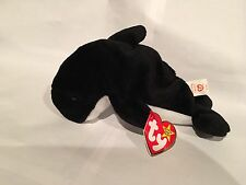 Ty Beanie Baby Waves the Whale with (Echo) 1996 Tags, PVC,  Rare Style 4180