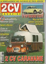 2CV MAGAZINE 27 CITROEN 2CV CARAVANE 11m CITROEN 2CV BIJOU 1961 FLEXIBLES FREINS