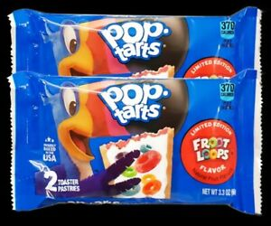 2 x Kellogg's Pop Tarts Froot Loops Pouches 96g