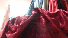 Stretch crushed panne velour velvet fabrics 5m x 1m48 W, red or purple or white