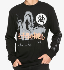 Studio Ghibli SPIRITED AWAY HAKU AND FRIENDS Long Sleeve T-Shirt NEW Authentic