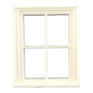 Melody Jane Dolls House 1:24 Scale Classic White Plastic Georgian 4 Pane Window
