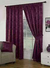 MILANO BERRY PURPLE 66 x 90 READY MADE FULLY LINED PENCIL PLEAT CURTAINS SQUARES