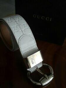 Gucci Women Wide 5.5cm Leather Unique and rare Belt 131465 size 34_85