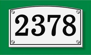 Personalized home address number sign Arched top free floating or flush Mount