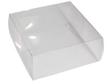 Bridal Clear Large Acetate Box Floral Corsage Wedding supplies 16.5 x16.5x 6.9cm