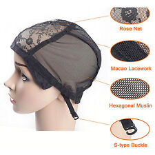 Weaving Wig Cap Adjustable Straps for Making Wigs Lace Mesh Stretchy Net QW