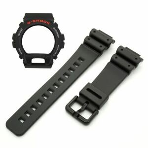 Genuine Casio Watch Band & Bezel Set G-Shock DW-6900 DW-6600 Black Strap & Shell