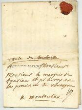 Österreichischer guerre de succession 1742 Bras de bavre Eger Cheb Bohême armée lettre