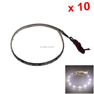 10x White Flexible Strip Light 30CM 1FT 12' Waterproof 30 Side Glow LED M007