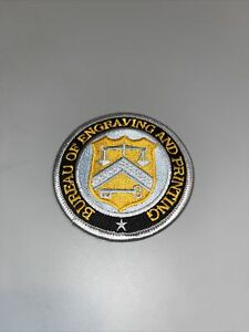 United States Bureau of Engraving and Printing Seal Silver Embroidered Patch