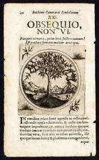 Antique Print-BRANCH-BEND OR BREAK-PROVERB-Sibmacher-Camerarius-1697