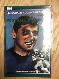 1992 Personality Comics Football Heroes #1 Featuring Joe Namath