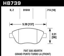 Disc Brake Pad Set-Abarth, Turbo Front Hawk Perf HB739B.715 fits 2012 Fiat 500