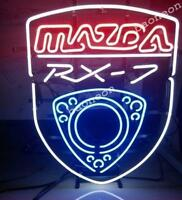 New MAZDA RX7 JDM Auto Car BEER BAR PUB REAL NEON SIGN LIGHT Fast Free Shipping