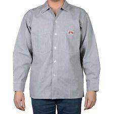 ORIGINAL BEN DAVIS LONG SLEEVE STRIPE HICKORY BUTTON-UP (Workwear since 1935)