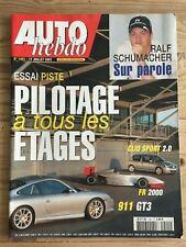 AUTO HEBDO N°1401 17/07/2003 PORSCHE 911 GT3 SAAB9-3 AERO LE MANS F3 RS CLIO 2.0