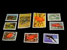 Vintage Stamp,Lot Of 9 National Wildlife Federation (Nwf),1970's, Fish, Porpoise