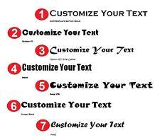 Personalizado de texto personalizados Letras Nombre Etiqueta Auto van ventana tienda de vinilo de