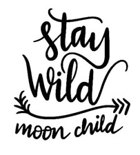 Stay Wild Moon Child Vinyl Wall Mirror Decal Room Decor Sticker Motivation Quote
