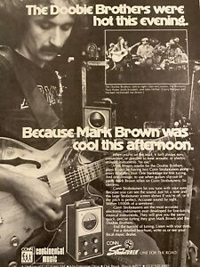 Doobie Brothers, Mark Brown, Conn Strobotuners, Full Page Vintage Promotional Ad