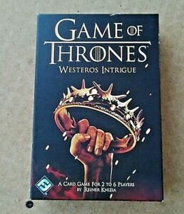 Game of Thrones WESTEROS INTRIGUE Card Game - Brand New.