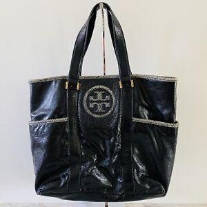 TORY BURCH Solid Shiny Black Shoulder Bag