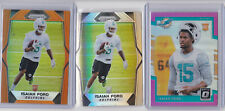 Isaiah Ford 2017 3 card rookie lot / Orange prizm / Pink Optic / Dolphins