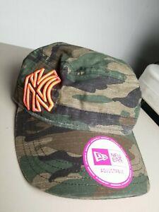 MLB New Era NEW YORK YANKEES Camouflage Military Womens Adjustable Hat sample