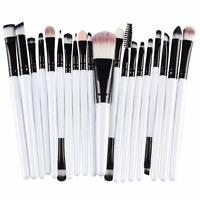 20 Pcs Makeup Set Powder Foundation Eyeshadow Eyeliner Lip Cosmetic Brushes UK