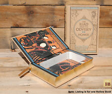 Hollow Book Safe - The Iliad and the Odyssey - Leather Bound Book Safe