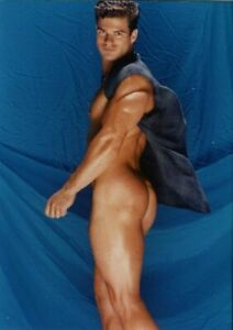 Greeting Card / Large / Terry de Long nude in blue shirt / Gay Interest