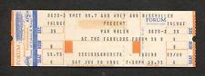 Original 1981 Van Halen Unused Concert Ticket Los Angeles Forum Fair Warning