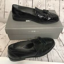 Stacy Adams Mens Santana Genuine Snake Black Leather Tassel Loafers Size 11 M