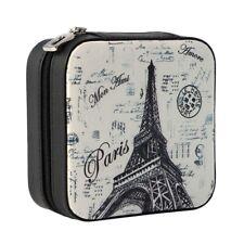 Travel Jewelry Case Organizer Small Mini Portable Black Storage Box