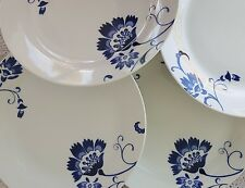 Set Of 4 Tabletops Gallery Unlimited Bluefield Dinner Plates Porcelain