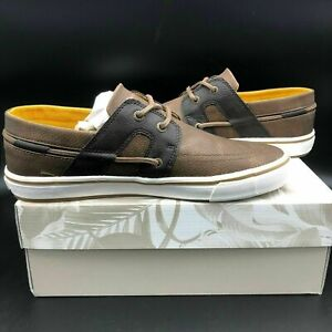 Tommy Bahama Men's Size 8.5 to 13 Stripe Asunder Boat Shoes in Dark Brown