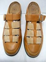 Ariat Womens Mules Size 9.5 B  Tan Leather w/ Arch Strap #JS