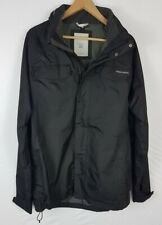 Crahgoppers Aquadry Mens Jacket Large Size L Black Coat Stow Away Hood Outdoors