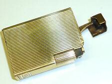 ROSE LIFTARM LIGHTER -SOLID 9 KARAT/375 GOLD W. SILVER PLATE - ENGLAND -RARE