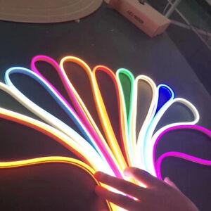 12V 2835 LED Neon Tube Flex Strip Light Silica Gel Tube 6mm*12mm IP67 Waterproof